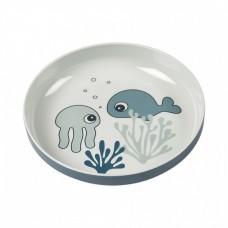 Done by Deer - Yummy mini krožnik Sea friends Blue