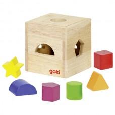 Goki - Lesena škatlica za vstavljanje likov