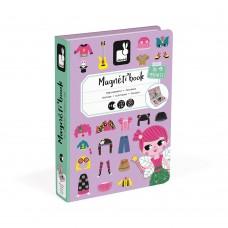 Janod - Magnetna knjiga Obleci deklico