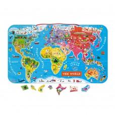 Janod - Magnetna sestavljanka zemljevid sveta