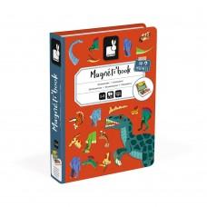 Janod - Magnetna knjiga Dinozavri