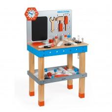 Janod - Lesena delovna miza z orodjem