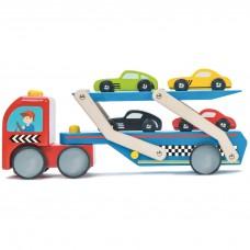 Le Toy Van - Lesen tovornjak za prevoz avtomobilov