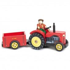 Le Toy Van - Lesen traktor s prikolico