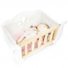 Le Toy Van - Lesena posteljica za lutke