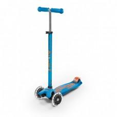 Micro - Maxi skiro Deluxe z LED kolesi Karibsko modra