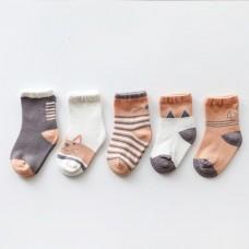 Set 5 otroških nogavičk Mucek (0-12 mesecev)