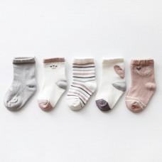 Set 5 otroških nogavičk Srček