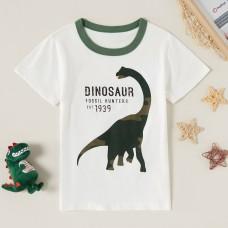 Poletje - Otroška majica s kratkimi rokavi Zelen dinozaver (4-5 let)
