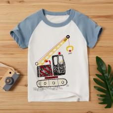 Poletje - Otroška majica s kratkimi rokavi Avtodvigalo (2-3 leta)