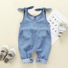 Hlače z naramnicami jeans (9-12 mesecev)