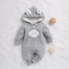 Otroški pajac s kapuco Oblaček (9-12 mesecev)