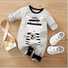 Otroški pajac siv Zebra (3-6 mesecev)