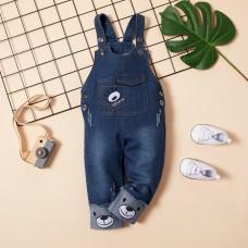 Otroške hlače z naramnicami iz jeansa