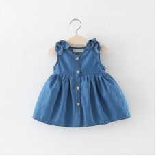 Otroška oblekica z dvema mašnicama (12-18 mesecev)