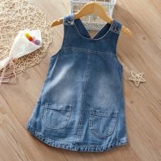 Dekliška oblekica iz jeansa (2-3 leta)