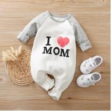 Otroški pajac I love mom (0-3 mesece)