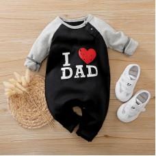 Otroški pajac I love dad (0-3 mesece)