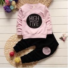 Otroški komplet High five, roza (12-18 mesecev)