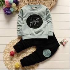 Otroški komplet High five, mint (9-12 mesecev)
