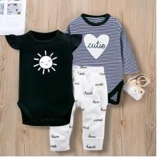 Otroški komplet 2X bodi+hlače Sonček (12-18 mesecev)