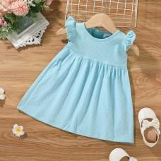 Otroška oblekica modra s pikami