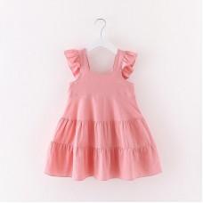Dekliška poletna obleka Roza