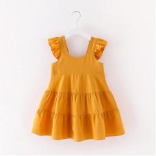 Dekliška poletna obleka Rumena