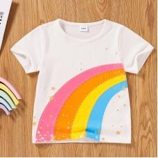 Otroška majica Mavrica Bela