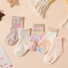 Set 5 otroških nogavičk Mašnica (3-5 let)