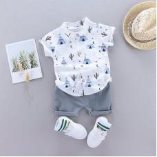 Otroški komplet srajčka + hlače Kaktus Moder