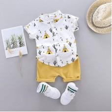 Otroški komplet srajčka + hlače Kaktus Rumen