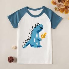 Poletje - Otroška majica s kratkimi rokavi Moder dinozaver (5-6 let)