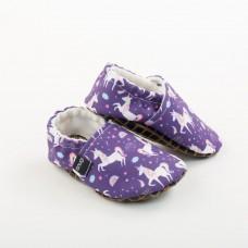 Snugi - Otroški copati Purple unicorn (št.30-31) - Toughtek podplat
