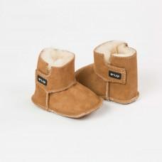 Snugi - Merino škorenjčki Brown (0-6 mesecev)