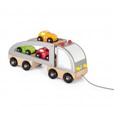 Janod - Lesen tovornjak z avtomobilčki