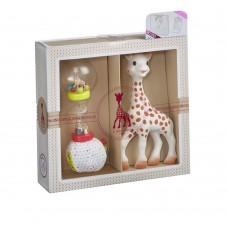 Žirafa Sophie - Darilni set Žirafa Sophie in ropotulja
