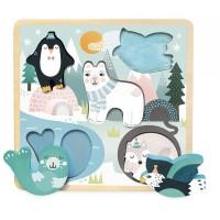 Vilac - Lesena vstavljanka Polarne živali